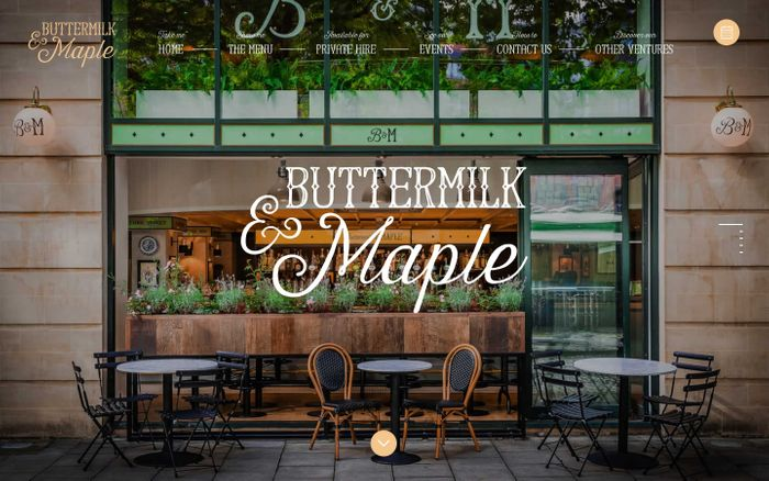 Screenshot of Welcome to Buttermilk and Maple