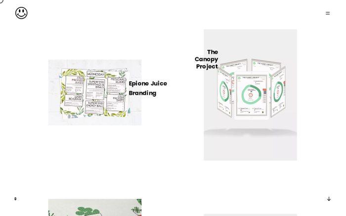 Screenshot of Maia Benaim – graphic design