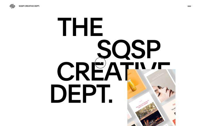 Screenshot of SQSP Creative Dept. website