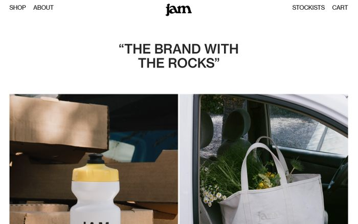 Screenshot of Jam Store website