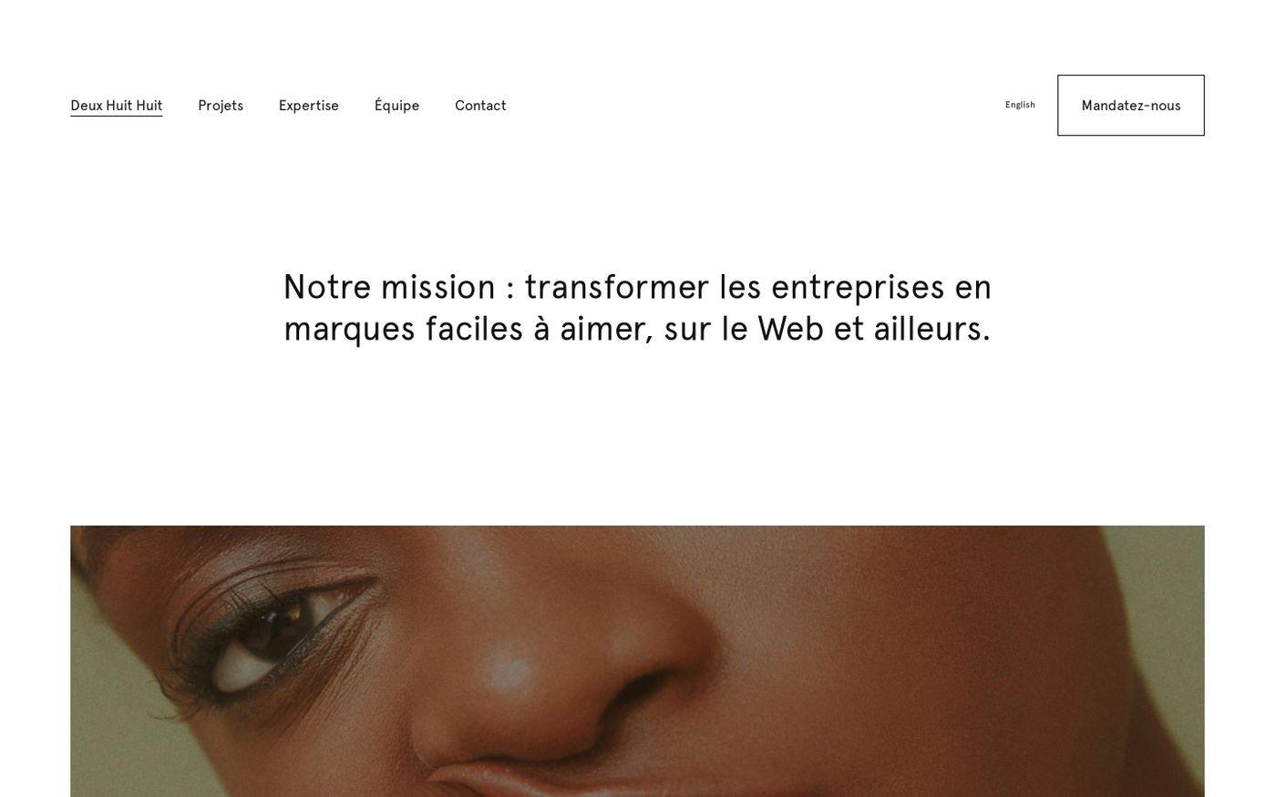 Screenshot of Deux Huit Huit website
