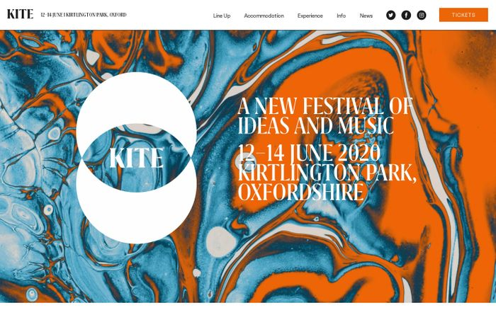 Screenshot of KITE FESTIVAL - A NEW FESTIVAL OF IDEAS AND MUSIC