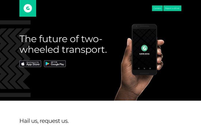 Screenshot of Gokada - The future of two-wheeled transport.