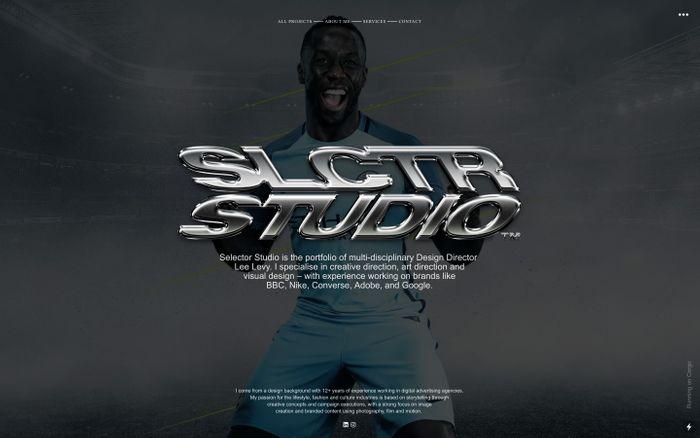 Screenshot of Selector Studio website