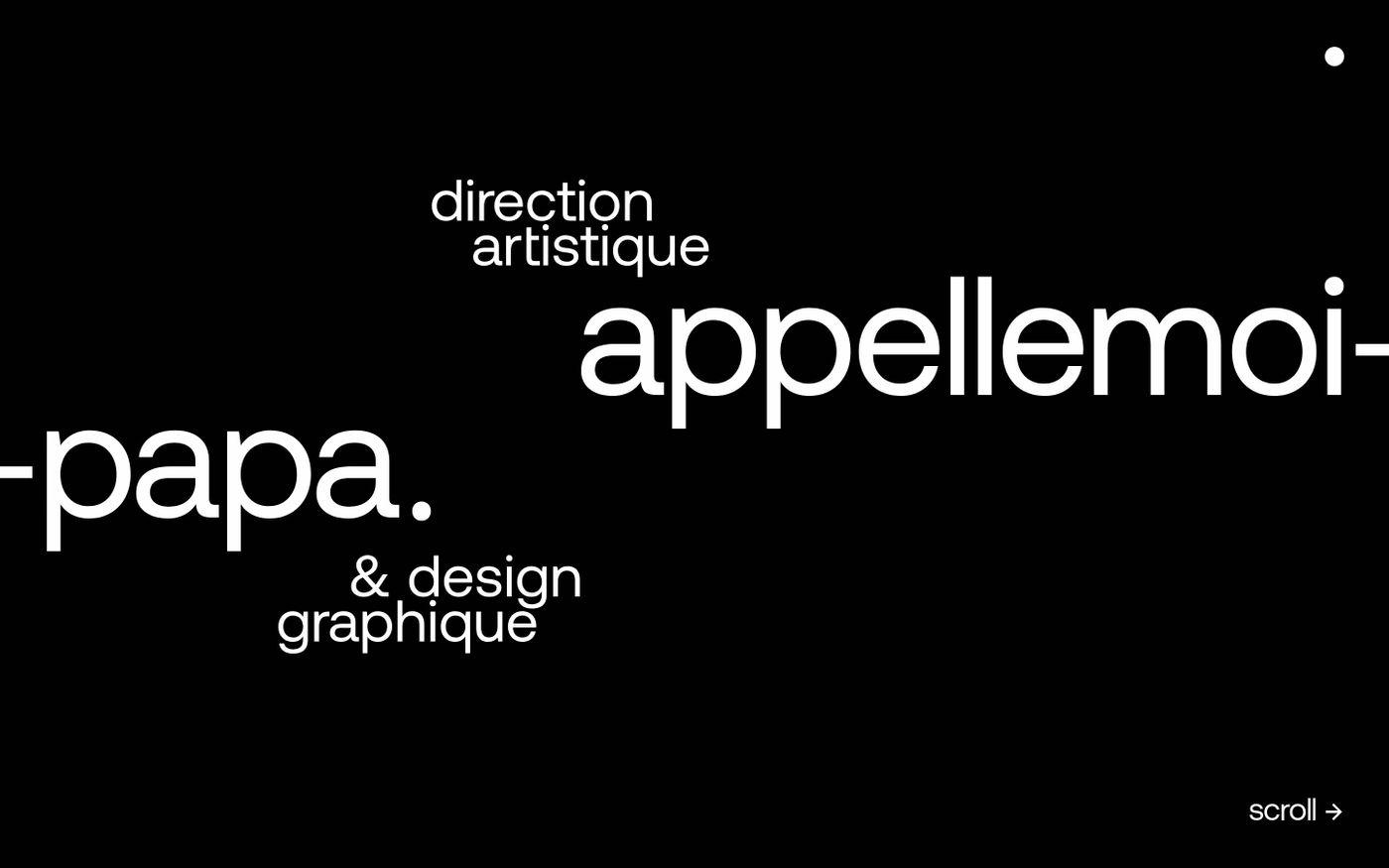 Screenshot of Appelle moi Papa website