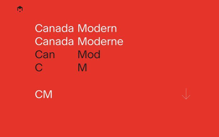 Screenshot of Canada Modern