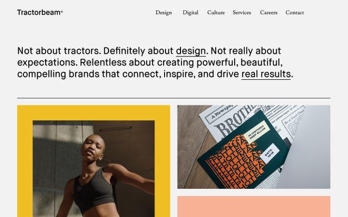 Screenshot of Tractorbeam website