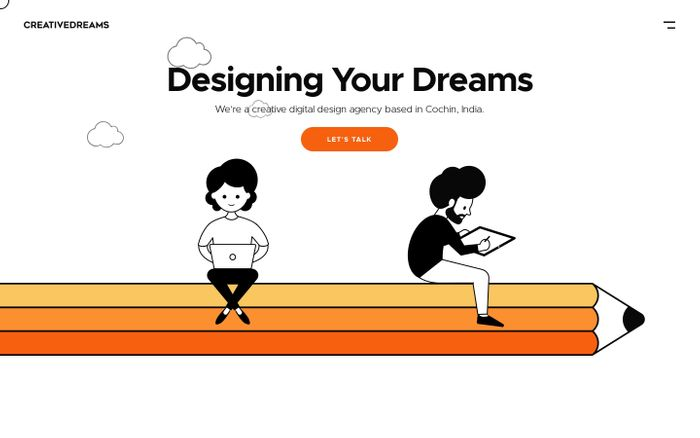 Screenshot of Creative Dreams Design