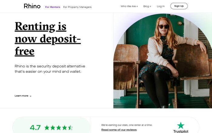 Screenshot of Rhino website