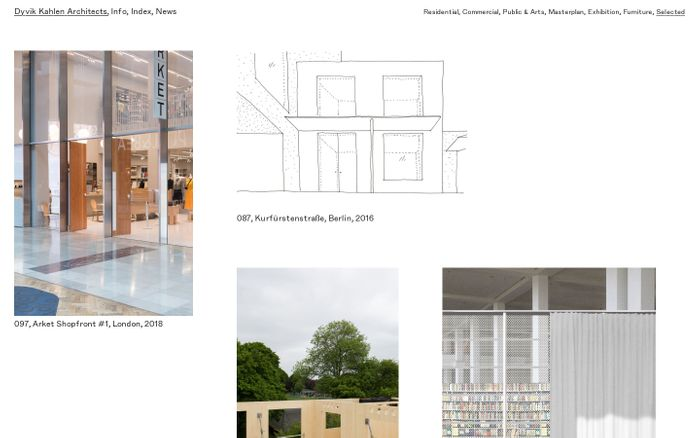 Screenshot of Dyvik Kahlen Architects