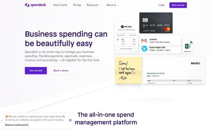 Screenshot of Smart spend management software for business | Spendesk