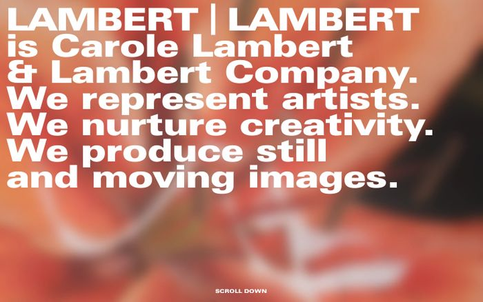 Screenshot of Lambert lamber website