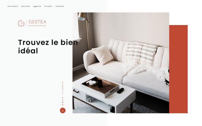 Screenshot of Agence immobilière Bruxelles biens à vendre et à louer | Gestea