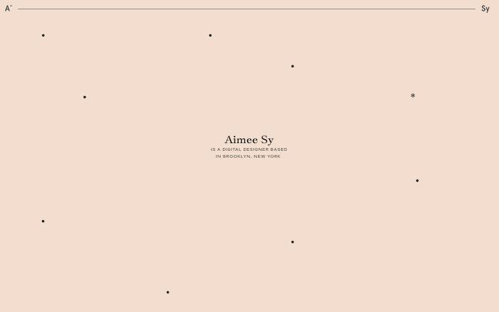 Screenshot of aimee sy