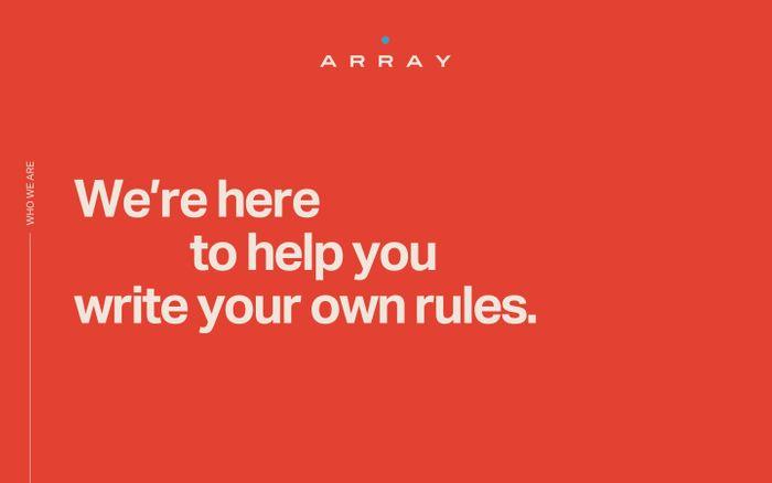 Screenshot of ARRAY
