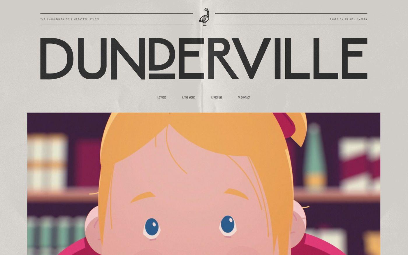 Screenshot of Dunderville website