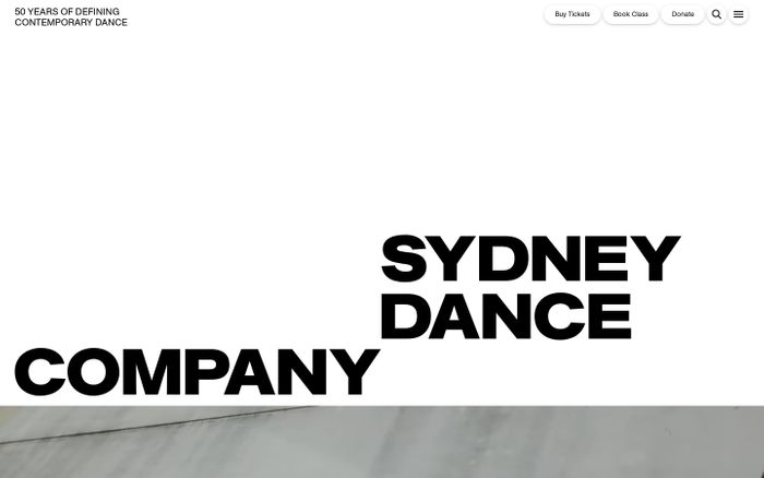 Screenshot of Sydney Dance Company