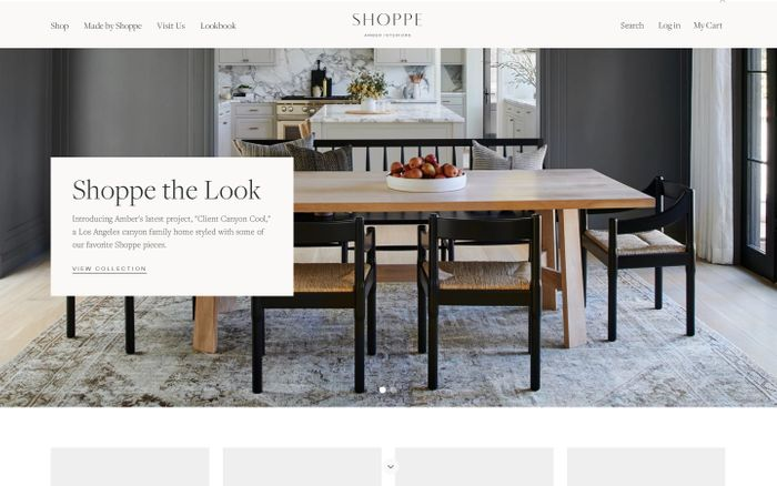 Screenshot of Shoppe Amber Interiors | Curated home decor, pillows, rugs and more