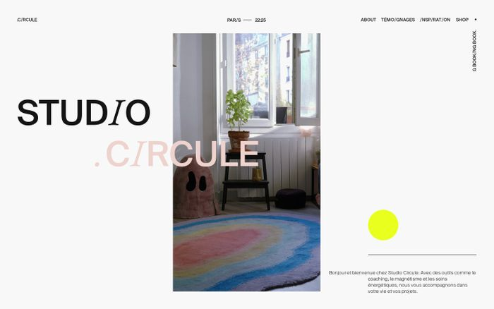 Screenshot of Studio Circule website