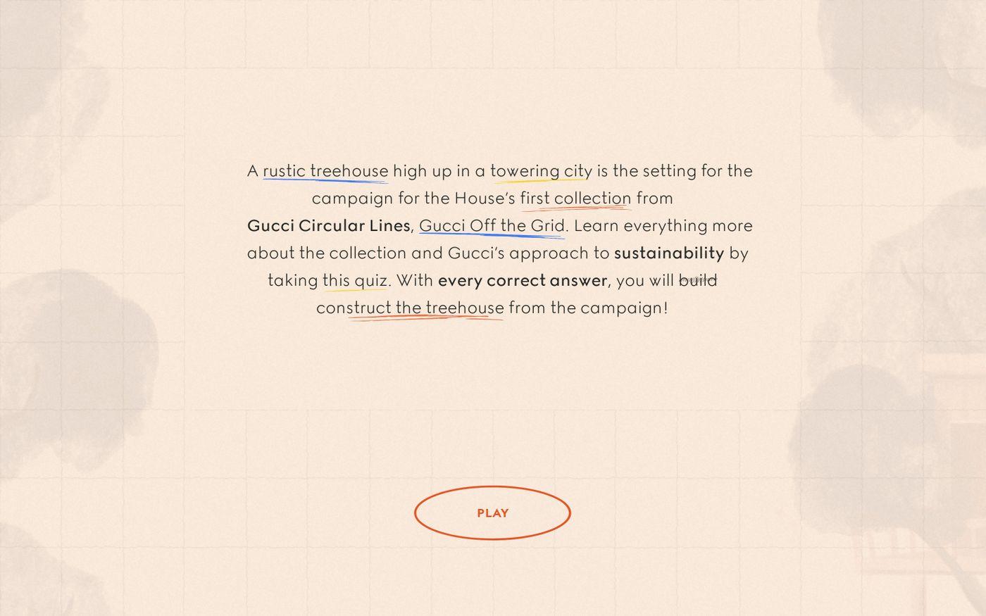 Screenshot of Off the Grid | Gucci website