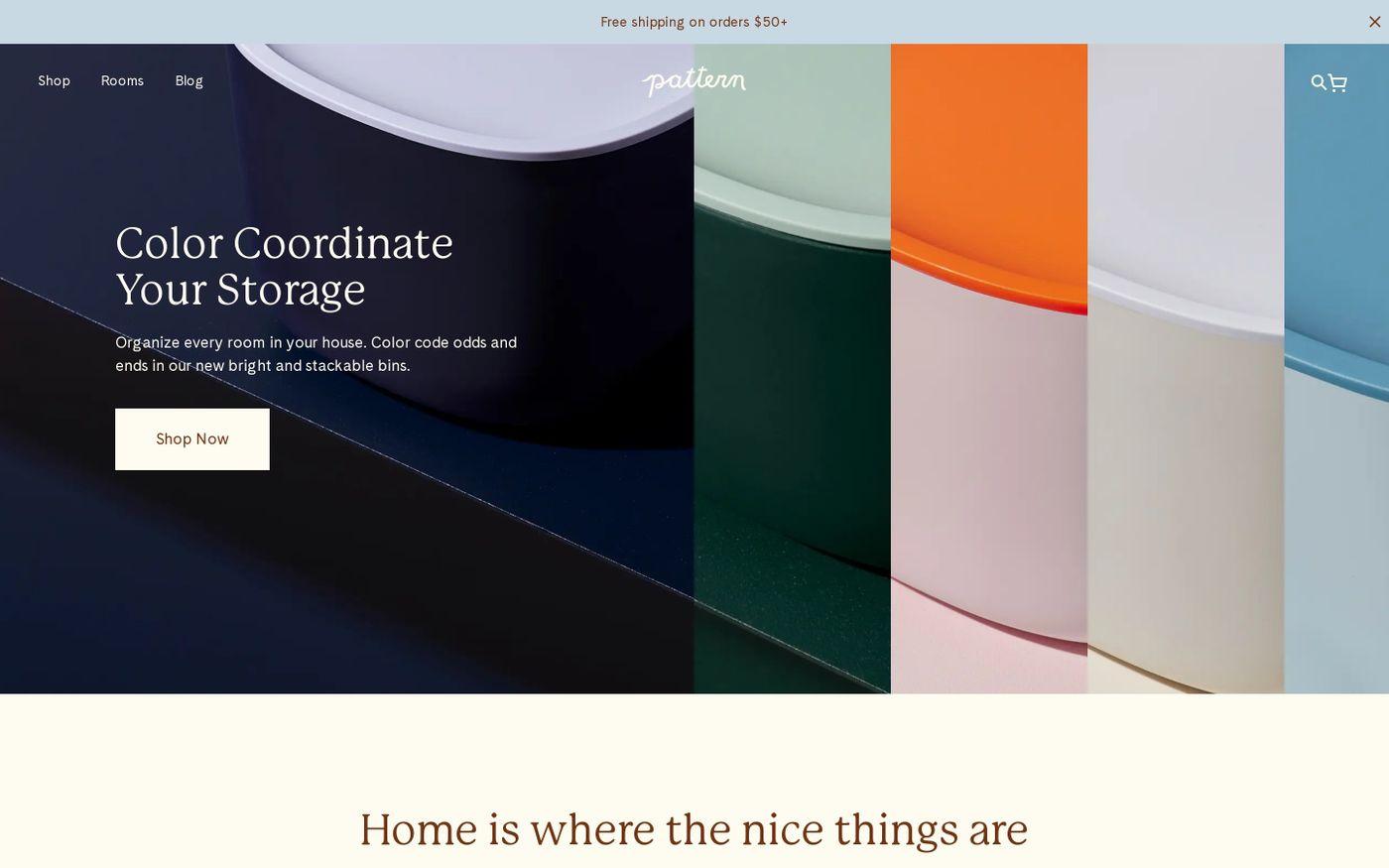 Screenshot of Pattern Brands website