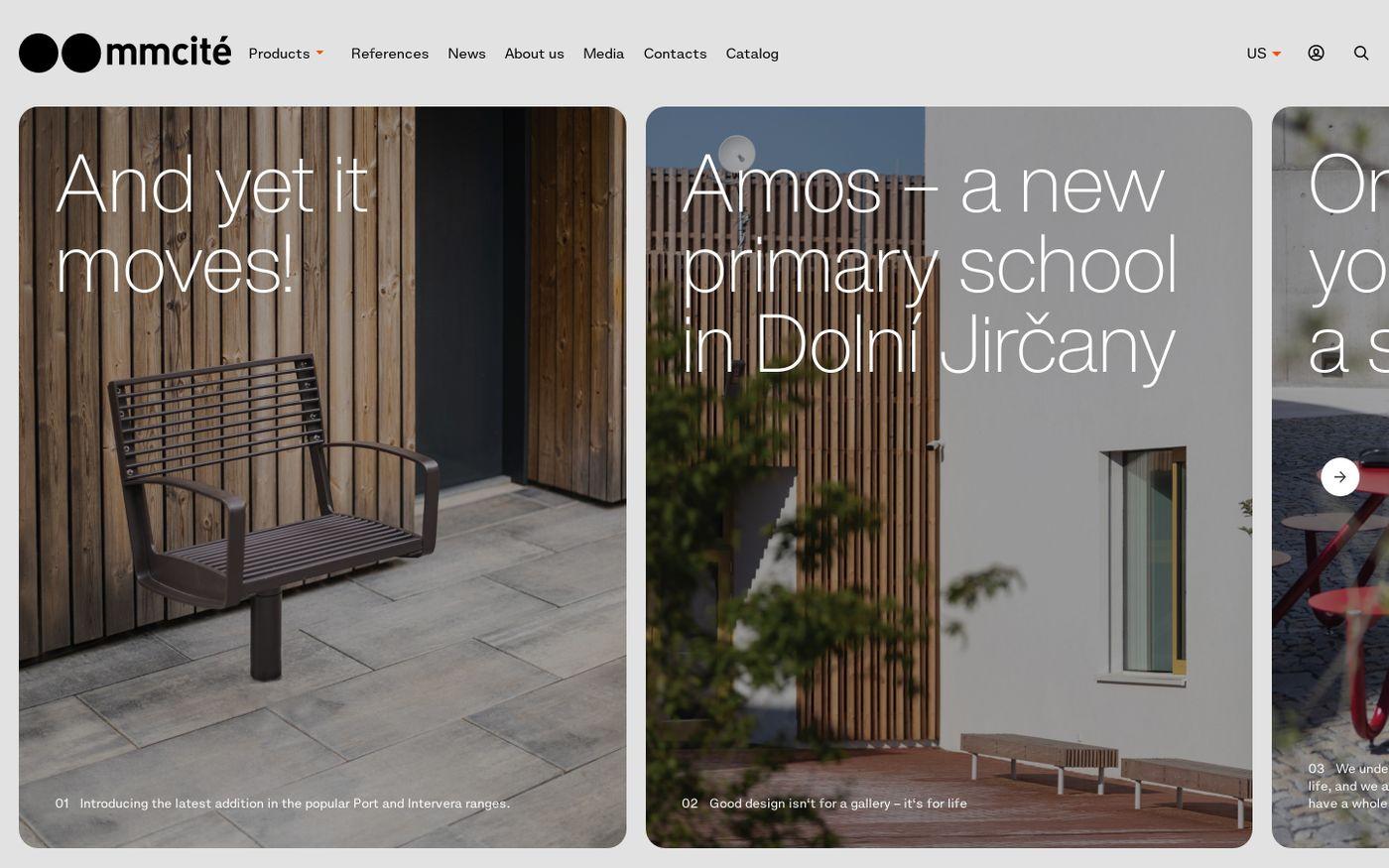 Screenshot of Mmcité website