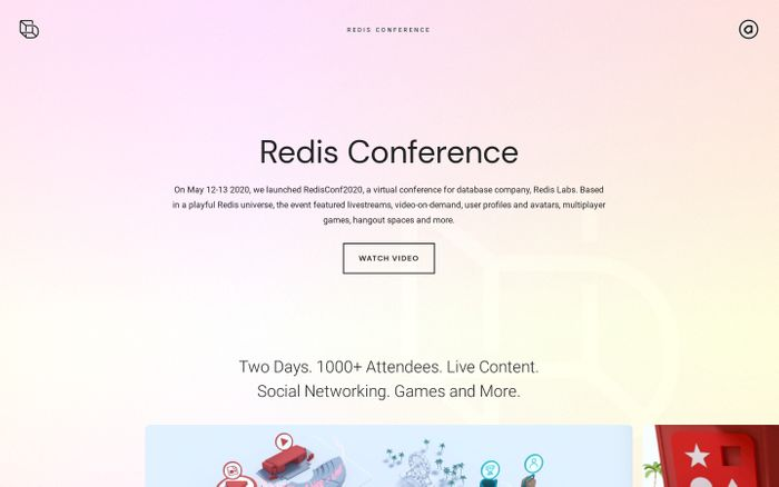 Screenshot of Redis conference