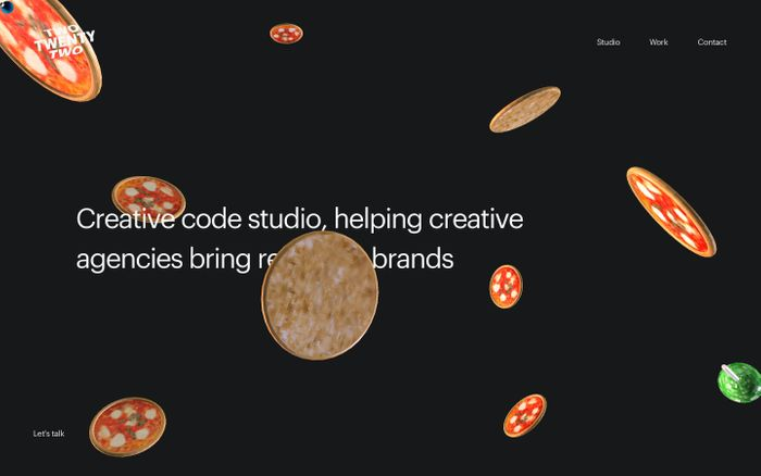Screenshot of Twotwentytwo - Creative studio