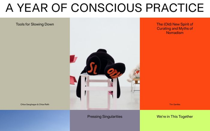 Screenshot of A Year of Conscious Practice
