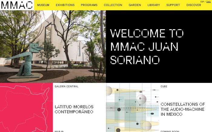 Screenshot of MMAC — Home