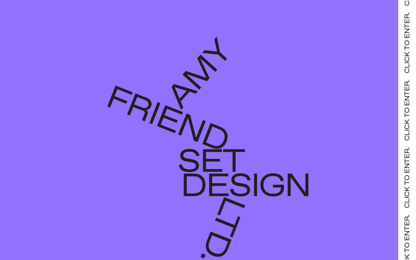 Screenshot of Amy Friend website