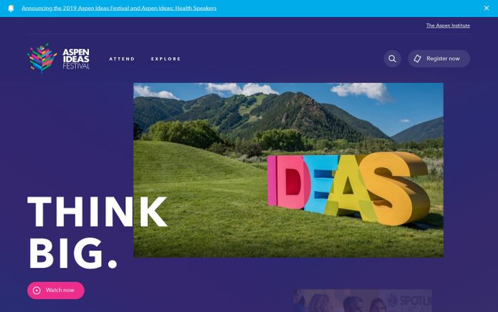 Screenshot of Aspen ideas festival website