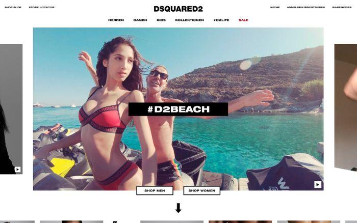 Screenshot of Dsquared2 Offizieller Online Store | Kleidung, Schuhe, Taschen & Mehr