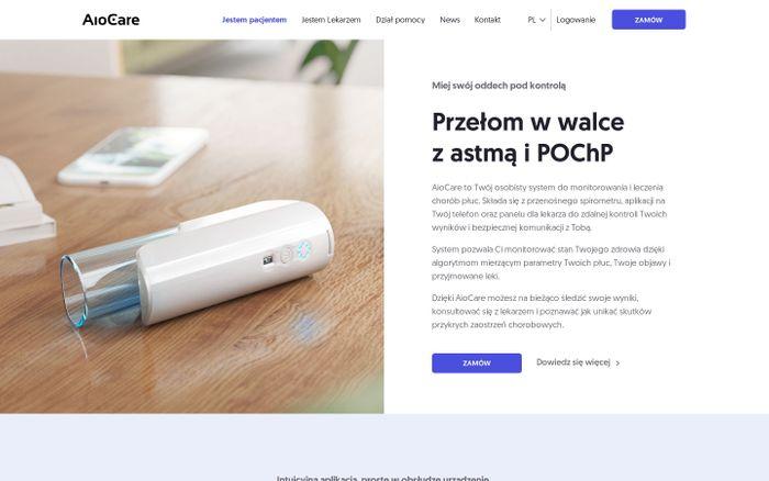 Screenshot of AioCare Digital Respiratory Disease Management System