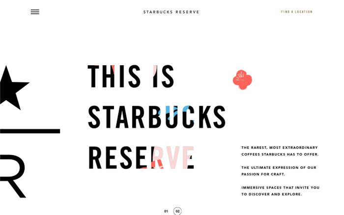 Screenshot of Visit Starbucks Reserve