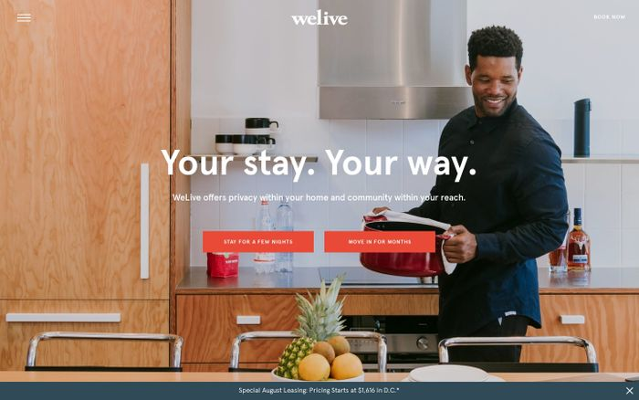 Screenshot of WeLive - Fully Furnished Apartments in NYC & DC