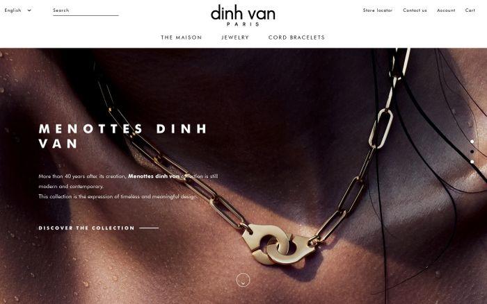 Screenshot of Accueil | dinh van