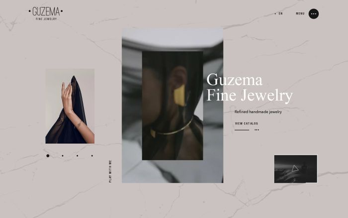 Screenshot of Guzema Fine Jewelry
