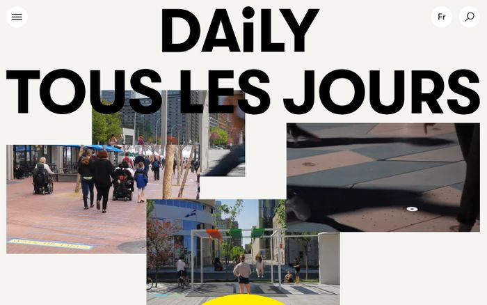 Screenshot of Daily tous les jours website