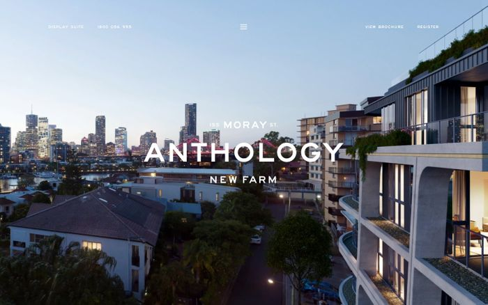 Screenshot of Anthology new farm website