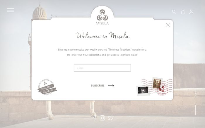 Screenshot of MISELA | Official Website - Designer Handbags & Accessories