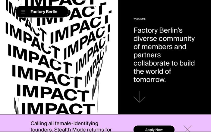 Screenshot of Factory Berlin - The Community of Innovators and Creators