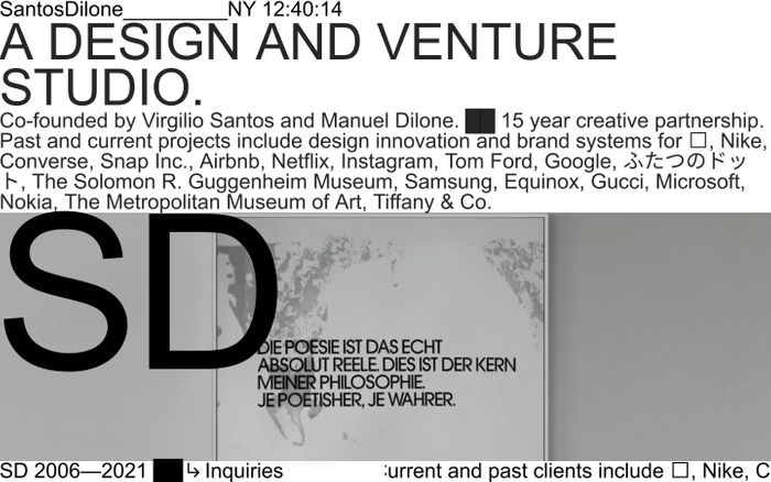 Screenshot of SantosDilone website
