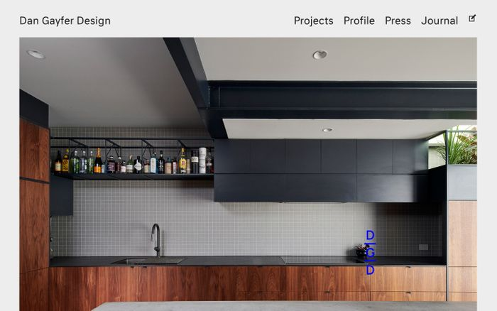 Screenshot of Dan Gayfer Design | Dan Gayfer Design brings customised and considered innovation to residential building, interior and exterior design to enhance everyday life.