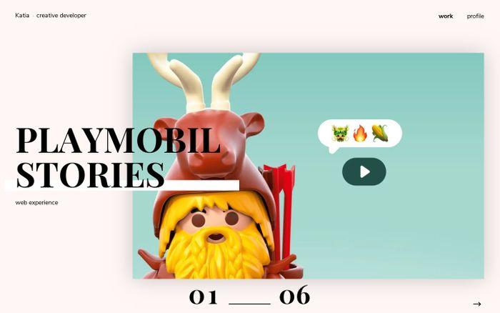 Screenshot of Katia Smet - Creative Developer website