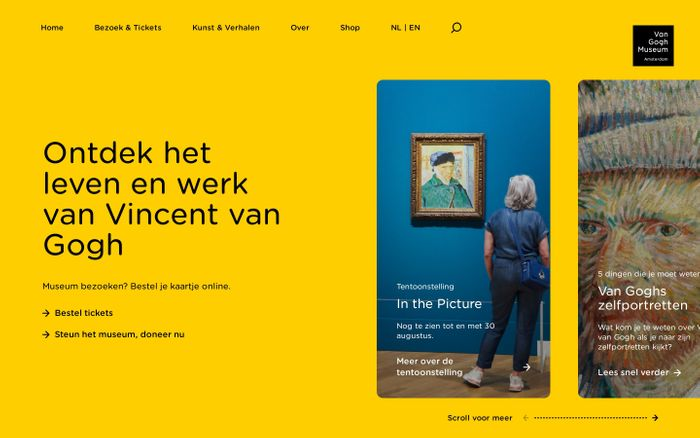 Screenshot of Van Gogh Museum - Hét museum over Vincent van Gogh in Amsterdam