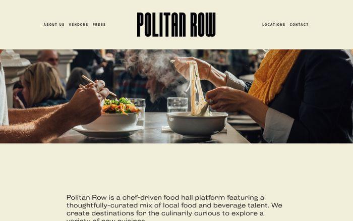 Screenshot of Politan Row