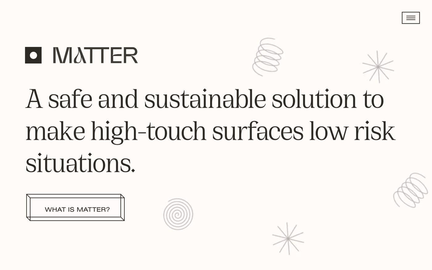 Screenshot of Matter website