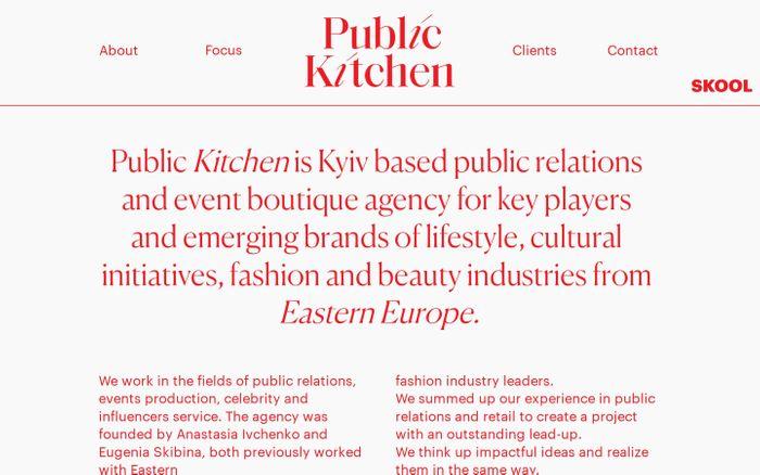Screenshot of Public Kitchen