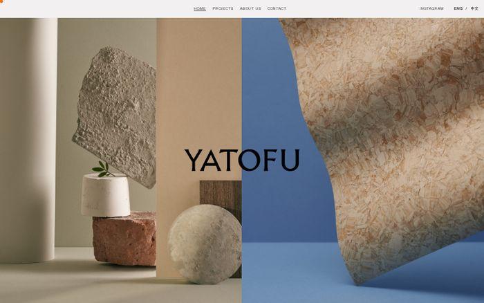 Screenshot of Yatofu website